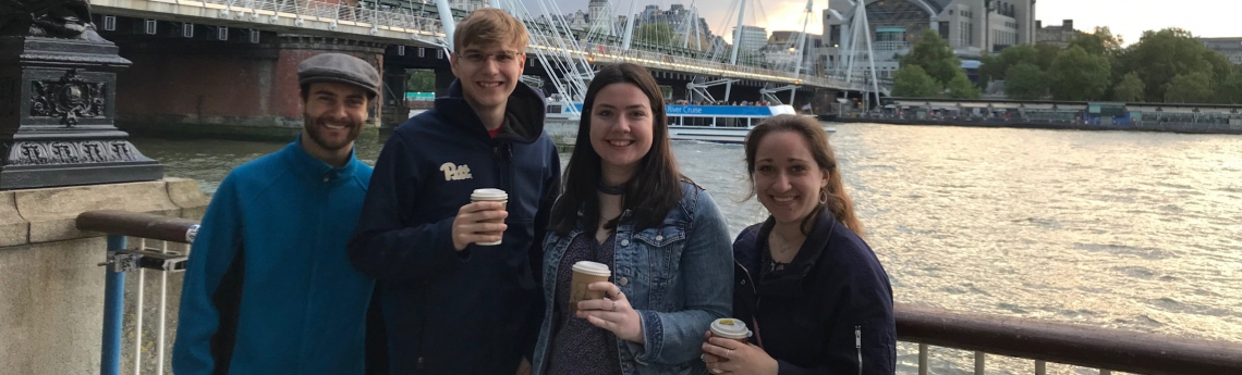 OUR students enjoy coffee together
